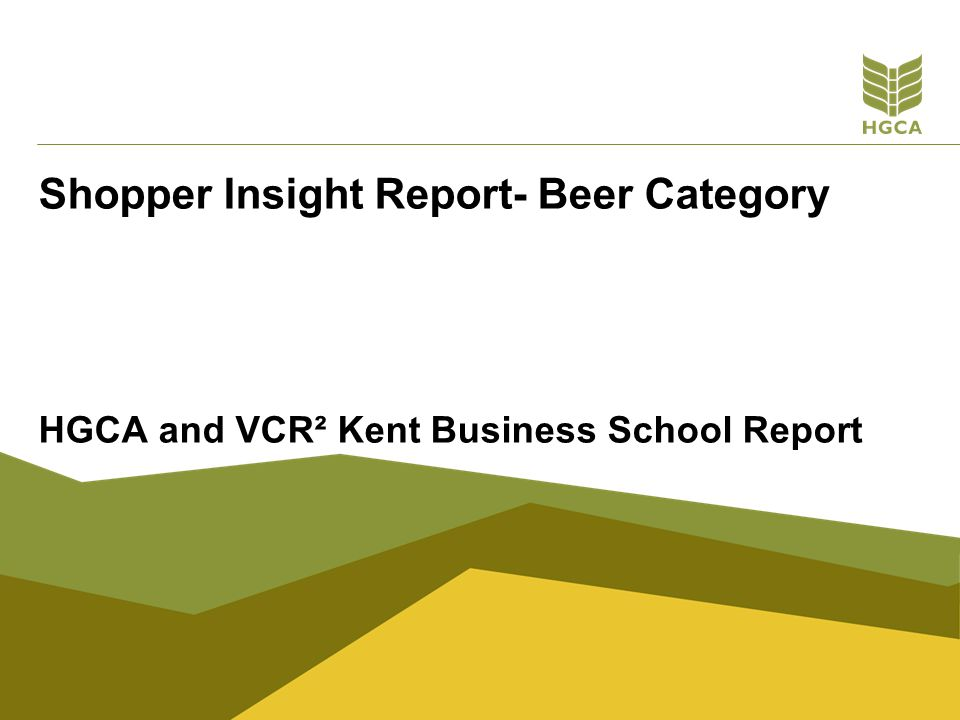 Shopper Insight Report- Beer Category
