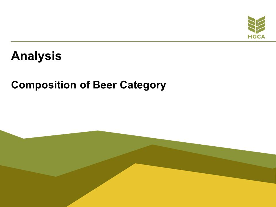 Composition of Beer Category