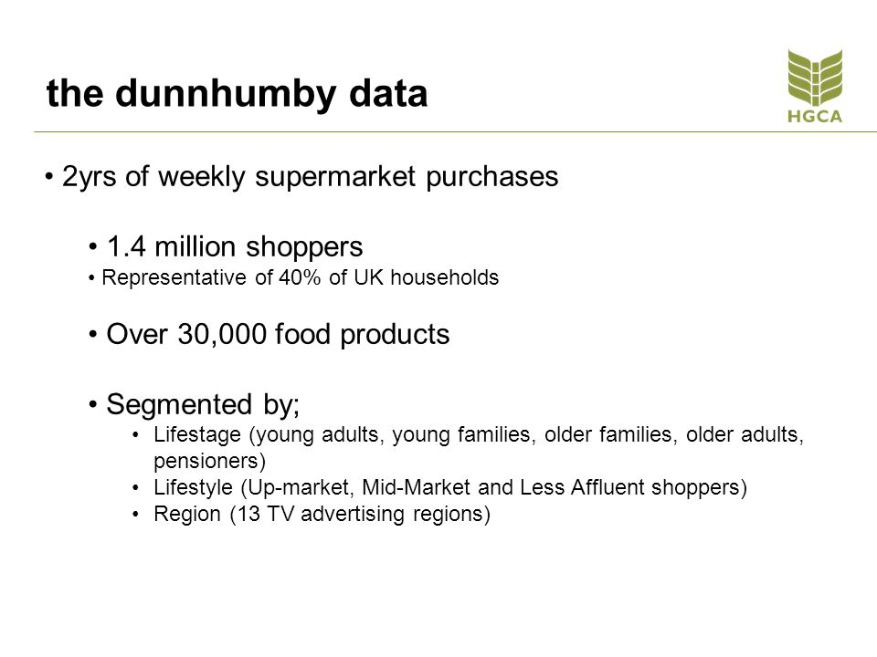 the dunnhumby data 2yrs of weekly supermarket purchases