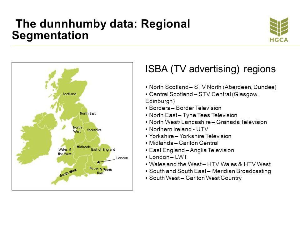 The dunnhumby data: Regional Segmentation