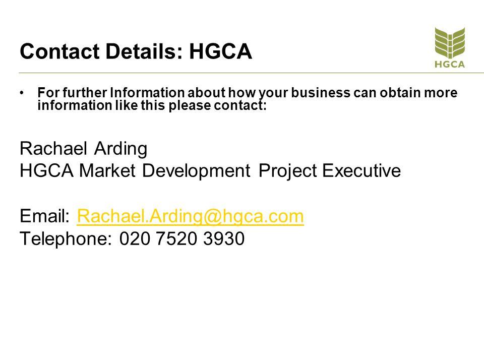 Contact Details: HGCA Rachael Arding