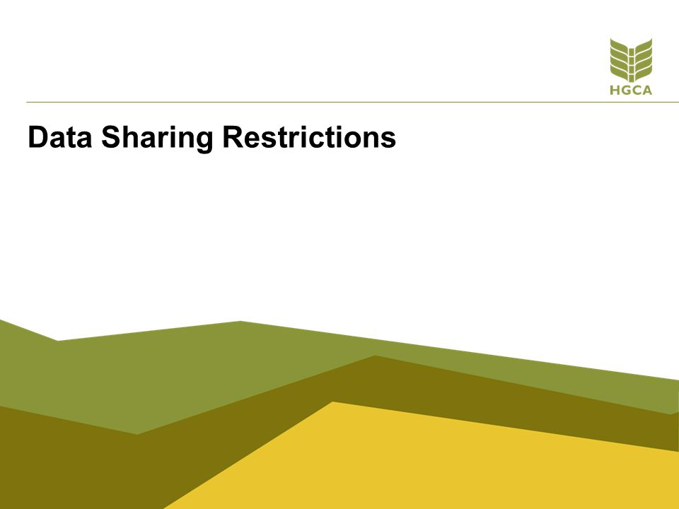 Data Sharing Restrictions