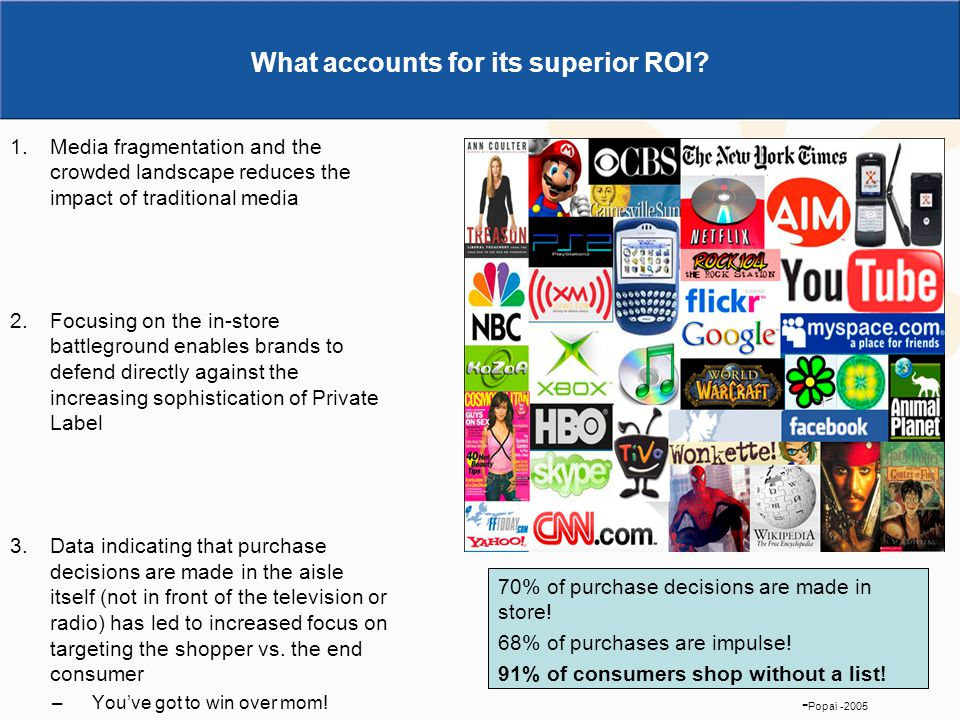 What accounts for its superior ROI