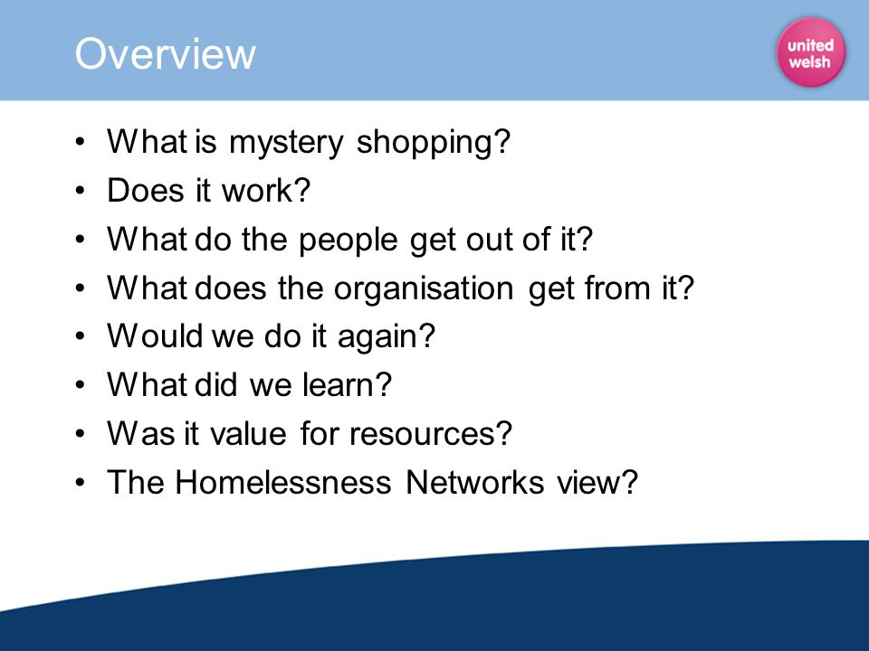 Overview What is mystery shopping Does it work