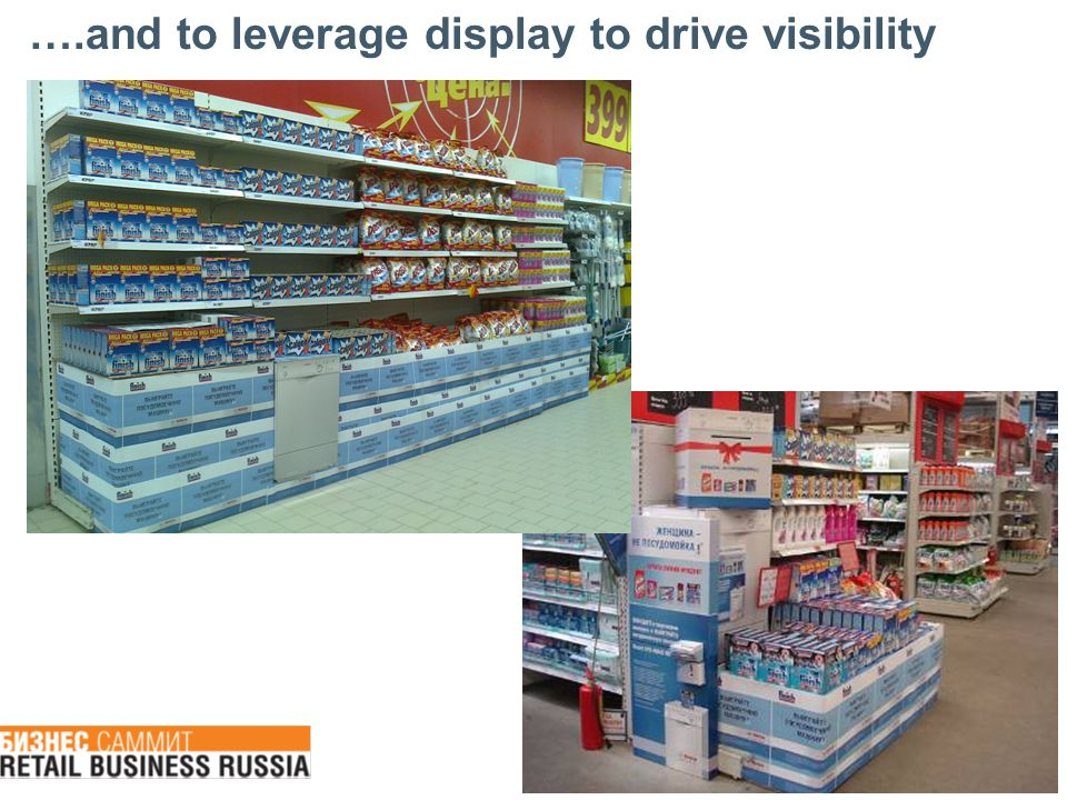 ….and to leverage display to drive visibility