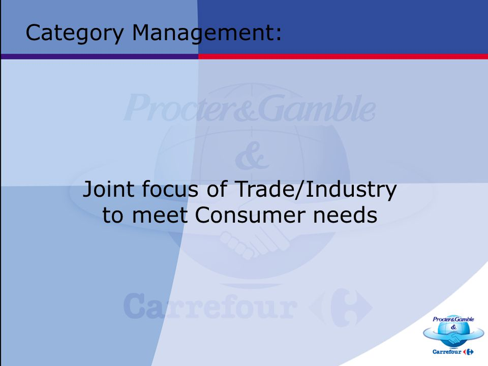 Joint focus of Trade/Industry
