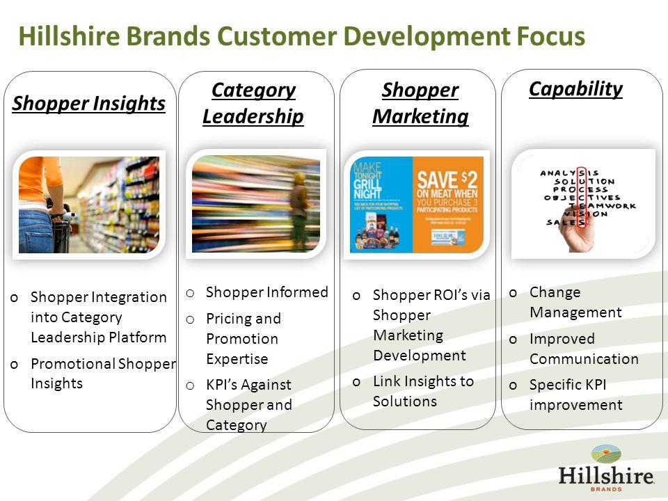 Hillshire Brands Customer Development Focus