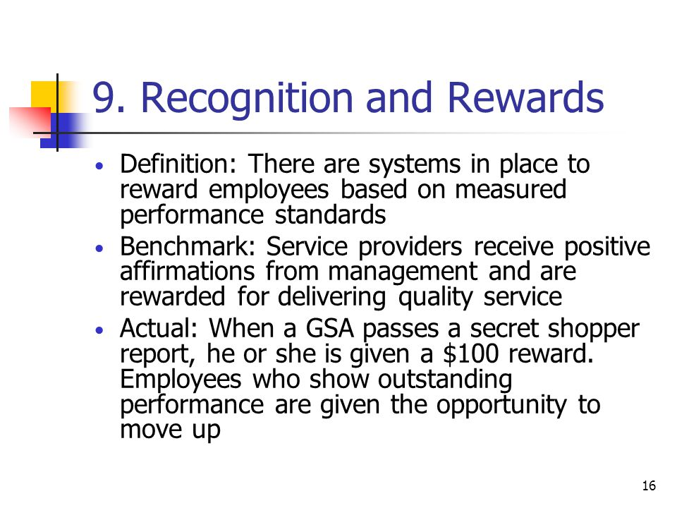 9. Recognition and Rewards