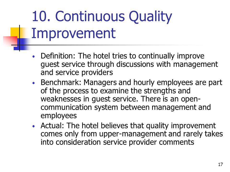 10. Continuous Quality Improvement