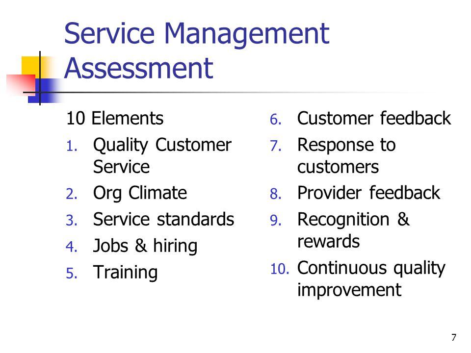 Service Management Assessment