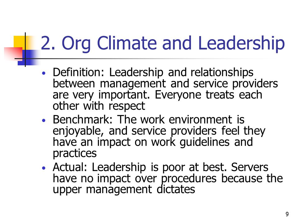 2. Org Climate and Leadership