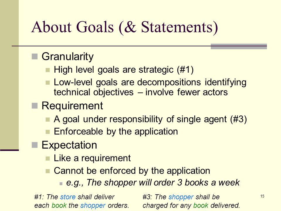 About Goals (& Statements)