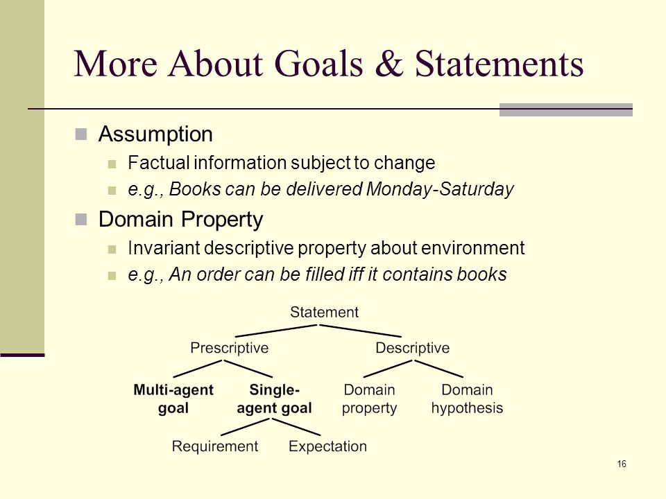 More About Goals & Statements