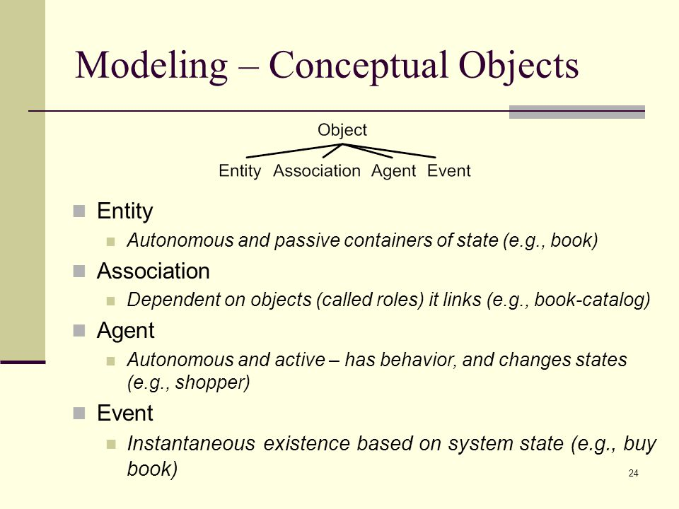 Modeling – Conceptual Objects