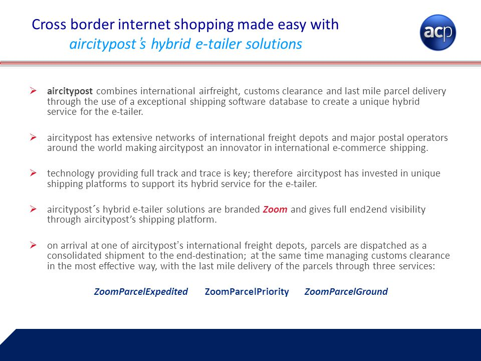 Cross border internet shopping made easy with aircitypost's hybrid e-tailer solutions