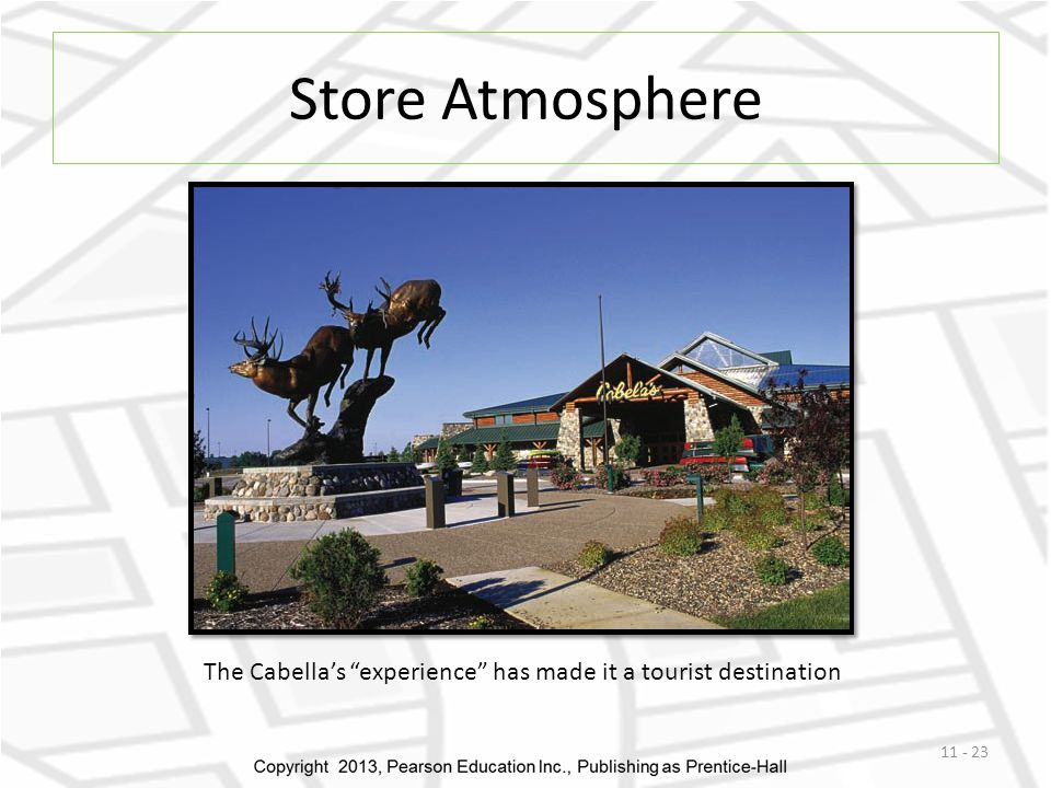 Store Atmosphere The Cabella's experience has made it a tourist destination