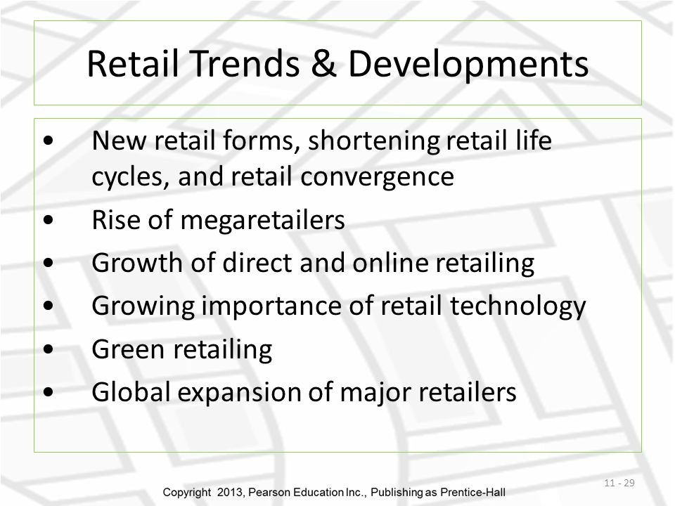 Retail Trends & Developments