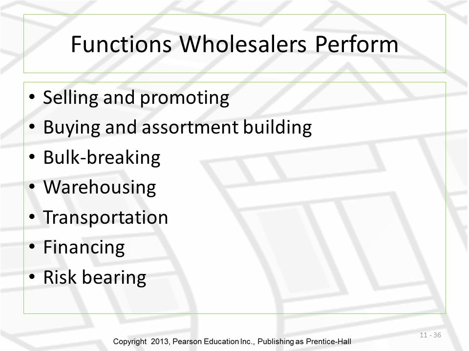 Functions Wholesalers Perform