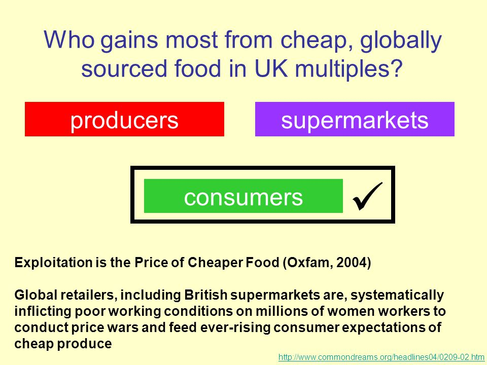 Who gains most from cheap, globally sourced food in UK multiples