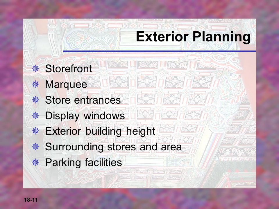 Exterior Planning Storefront Marquee Store entrances Display windows