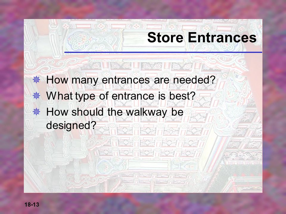 Store Entrances How many entrances are needed