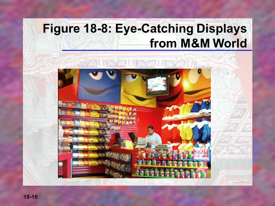 Figure 18-8: Eye-Catching Displays from M&M World