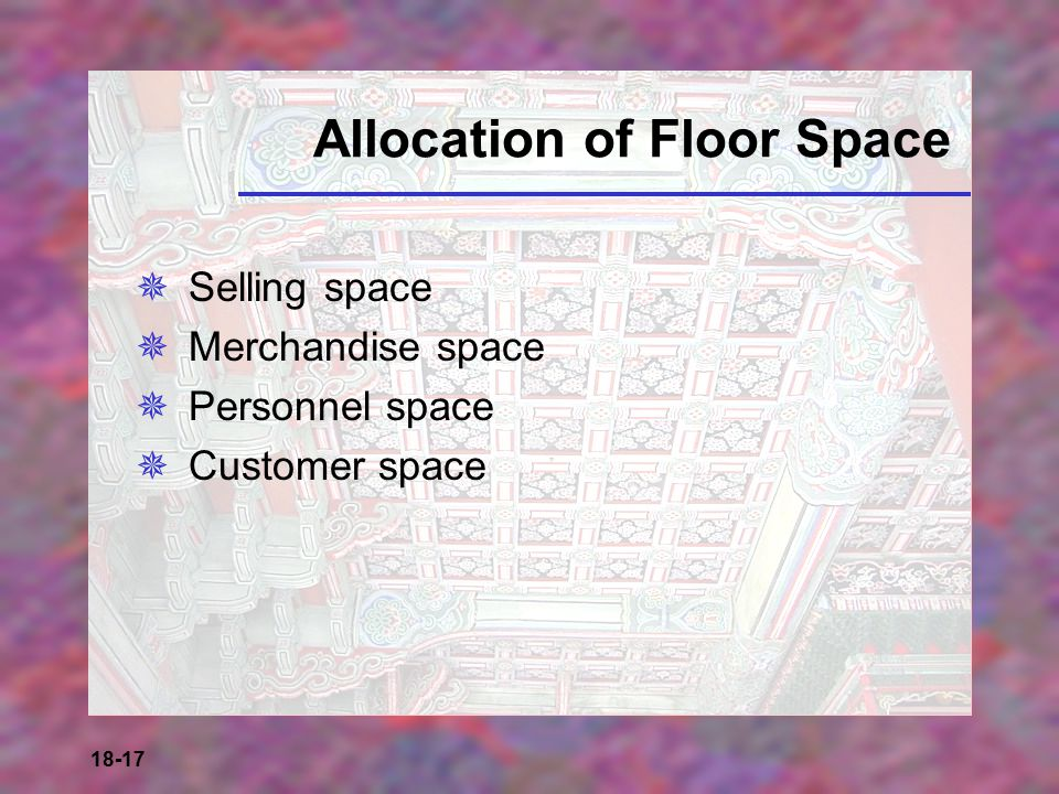 Allocation of Floor Space