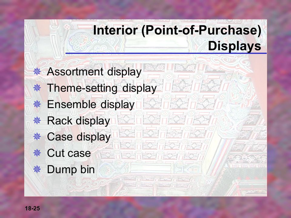 Interior (Point-of-Purchase) Displays