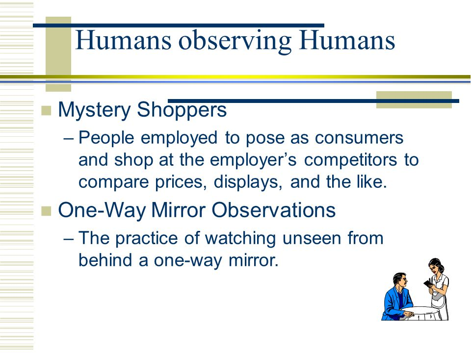 Humans observing Humans
