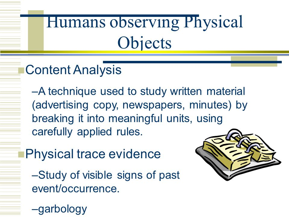 Humans observing Physical Objects