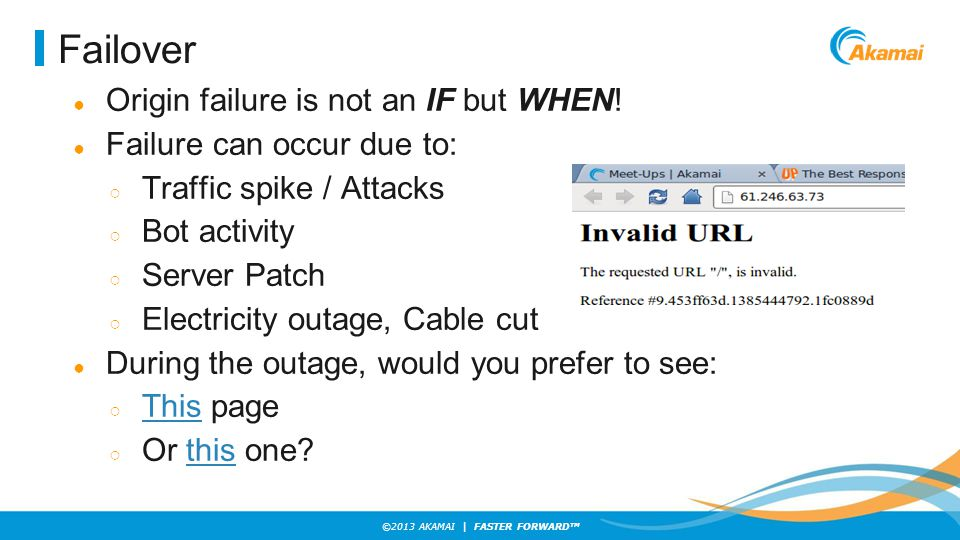 Failover Origin failure is not an IF but WHEN!