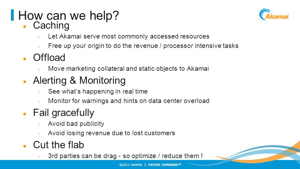 How can we help Caching Offload Alerting & Monitoring Fail gracefully