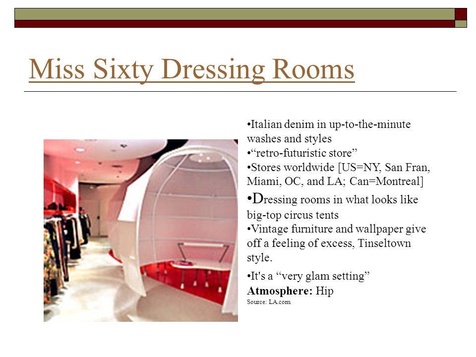 Miss Sixty Dressing Rooms