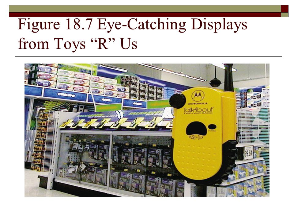 Figure 18.7 Eye-Catching Displays from Toys R Us