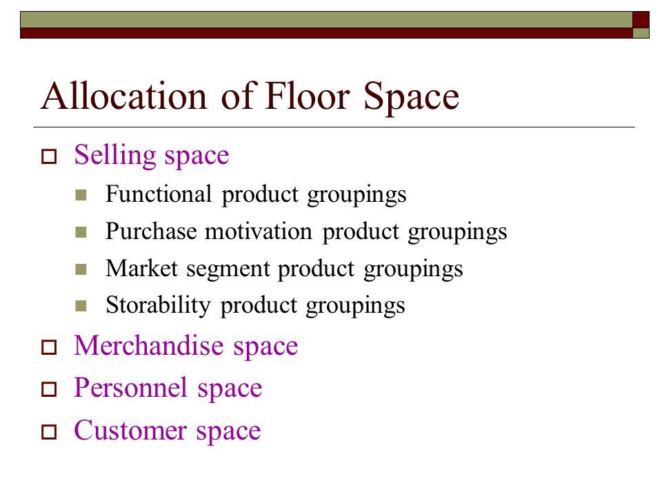 Allocation of Floor Space