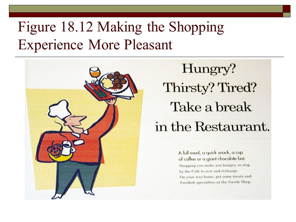 Figure 18.12 Making the Shopping Experience More Pleasant