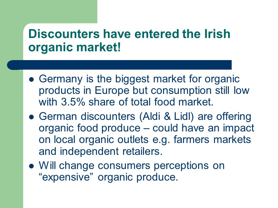 Discounters have entered the Irish organic market!