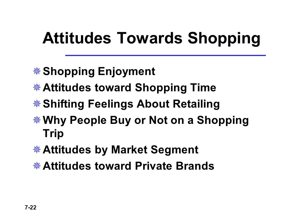 Attitudes Towards Shopping