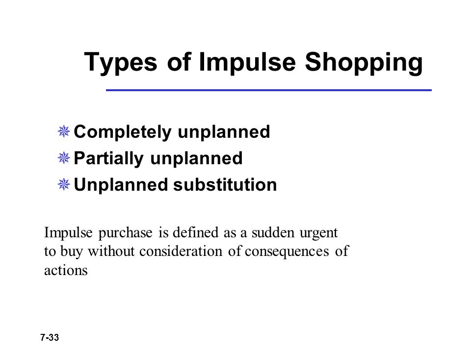 Types of Impulse Shopping