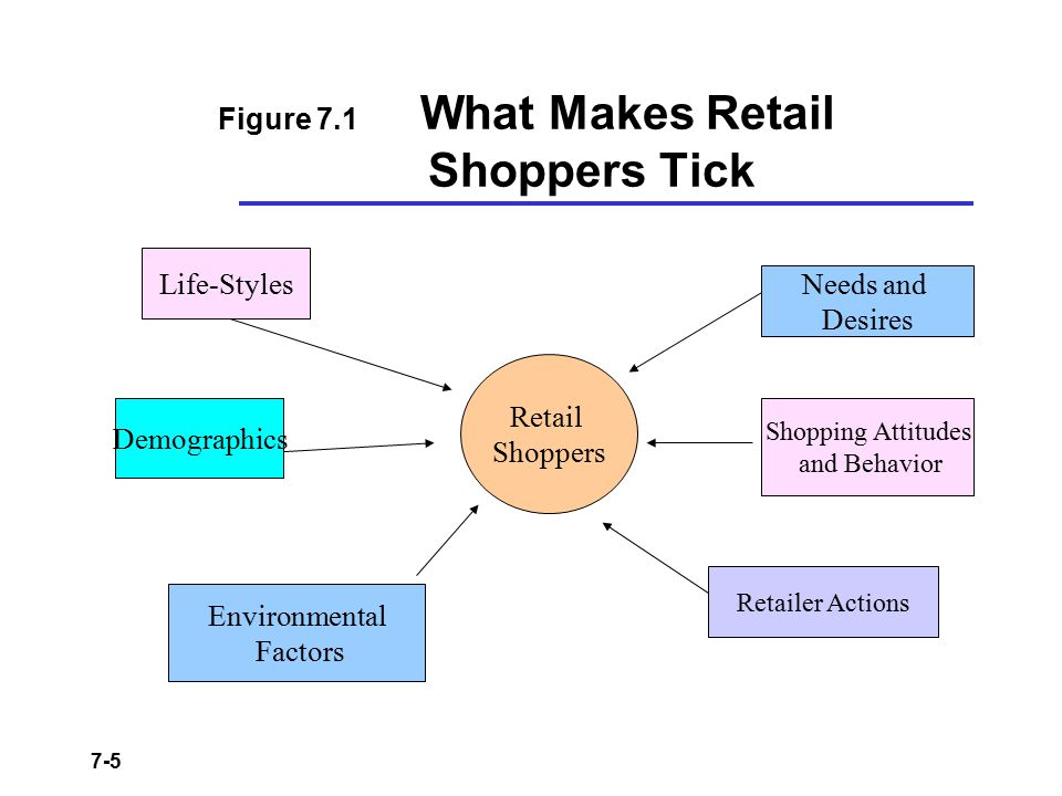 Figure 7.1 What Makes Retail Shoppers Tick