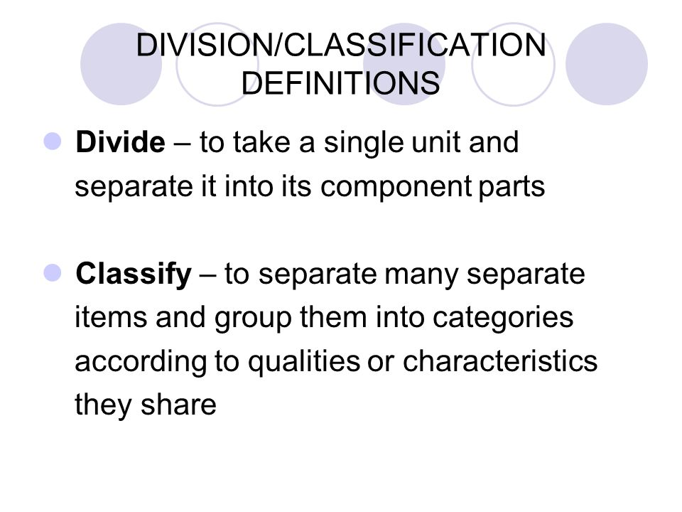 Classification and division essay topic ideas