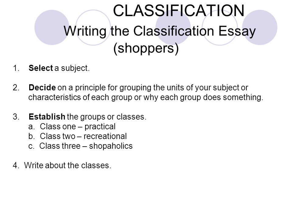 3 classification writing the classification essay - What Is A Classification Essay