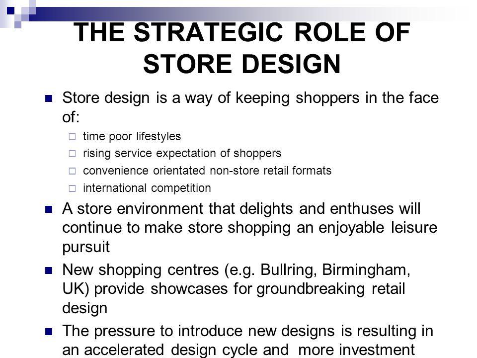 THE STRATEGIC ROLE OF STORE DESIGN