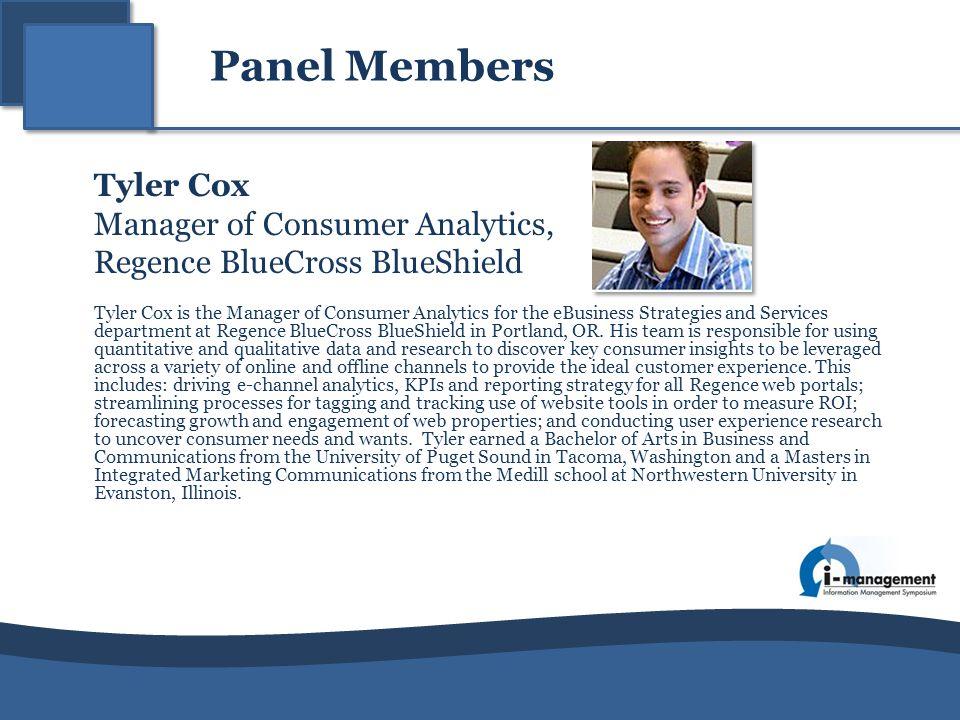 Manager of Consumer Analytics, Regence BlueCross BlueShield