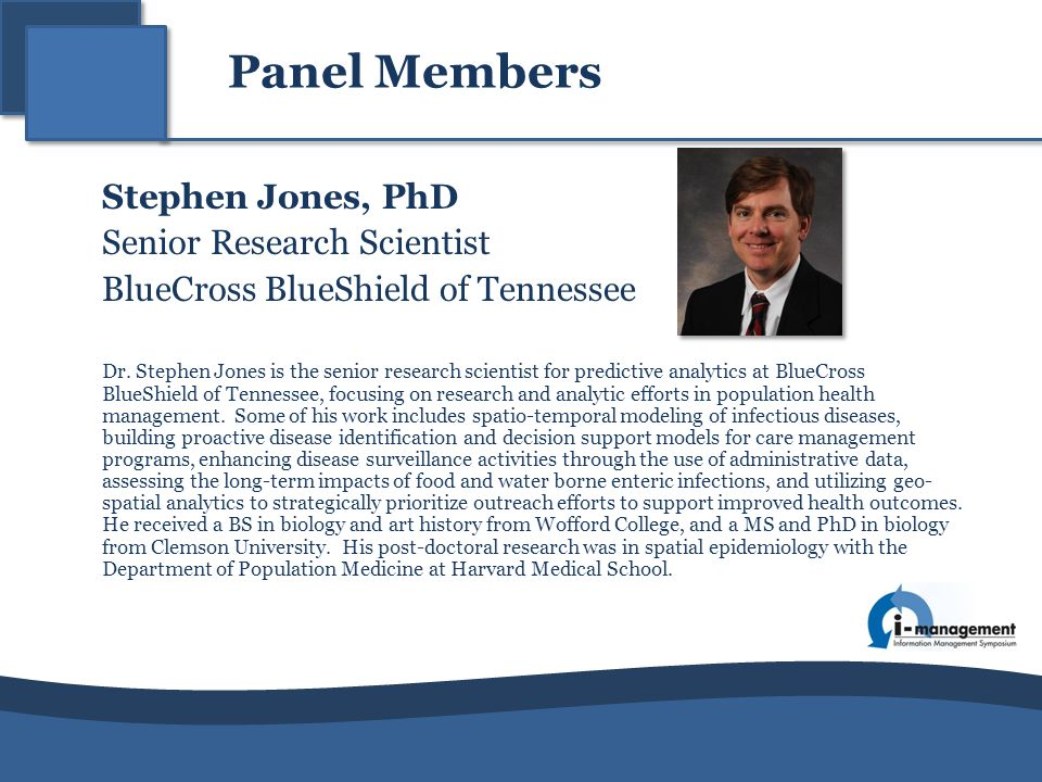 Senior Research Scientist BlueCross BlueShield of Tennessee