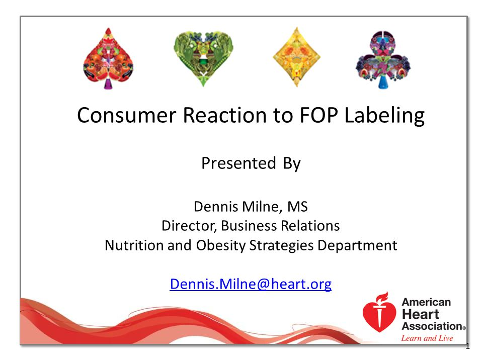Consumer Reaction to FOP Labeling