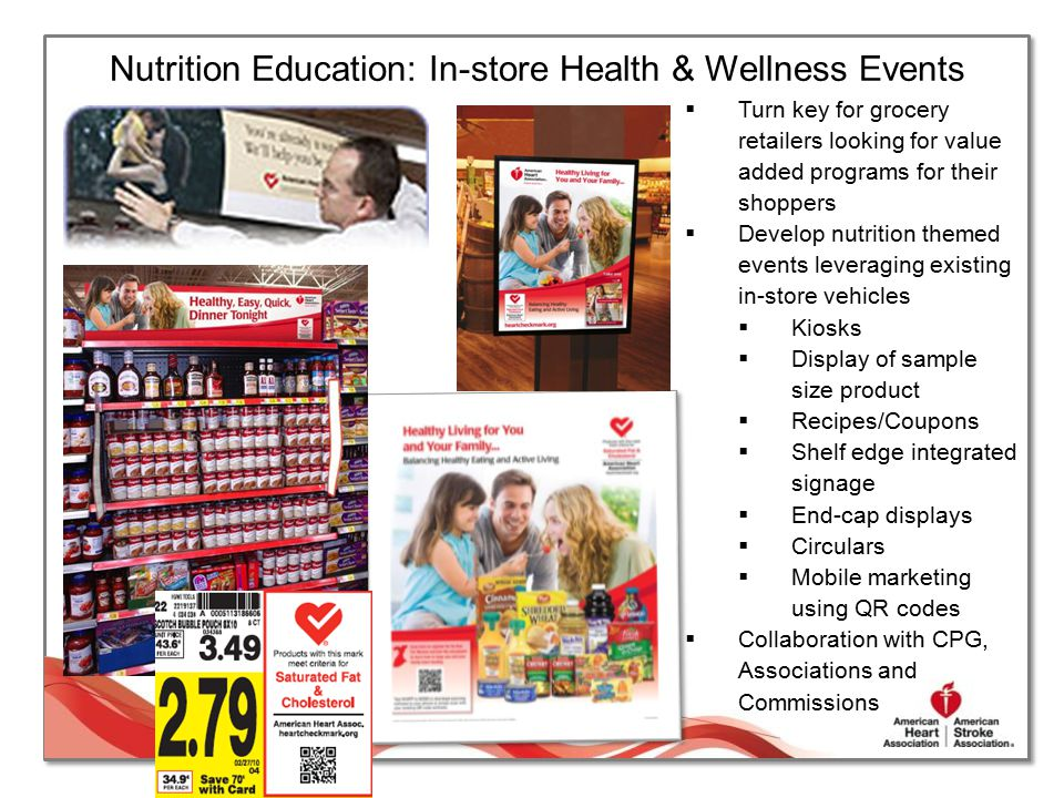 Nutrition Education: In-store Health & Wellness Events