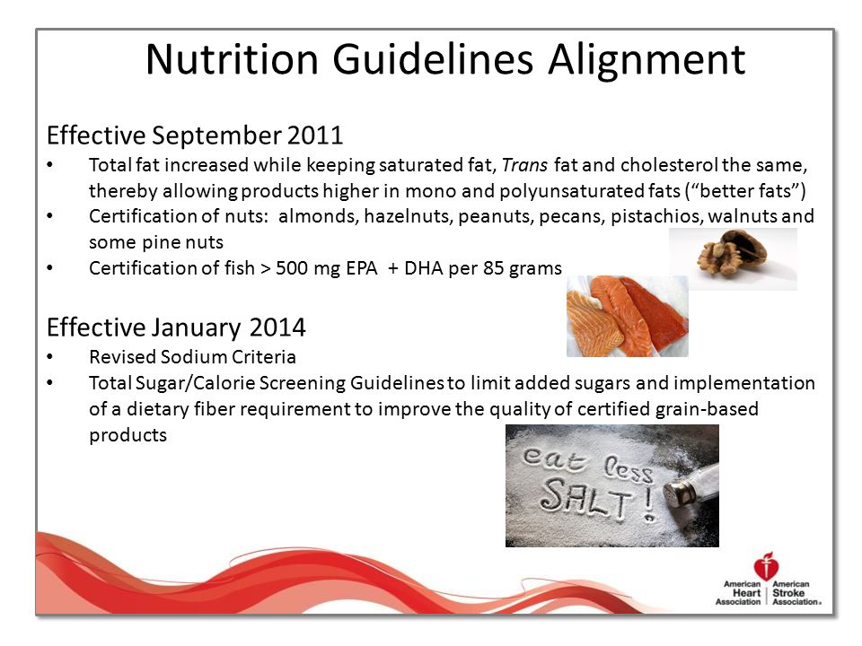 Nutrition Guidelines Alignment