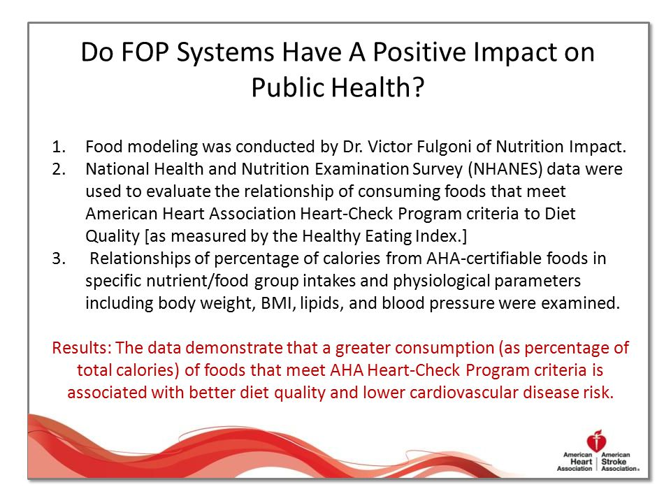 Do FOP Systems Have A Positive Impact on Public Health