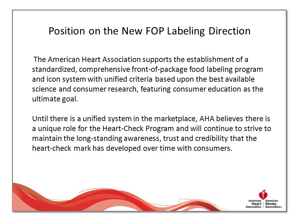 Position on the New FOP Labeling Direction